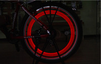 al por mayor electric motorcycle-Nuevo coche de la manera caliente de la bicicleta LED luces de la motocicleta eléctrica Ruedas Radios Lámpara Silicona 4 colores parpadea accesorios ciclo luz de alarma
