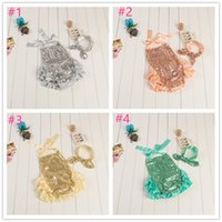 baby girl rompers sale - In stock Hot sale baby toddler infant girls sequins ruffle rompers sets infant babies summer glittler hot designs clothing set diaper cover