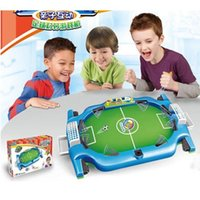 Wholesale 1Set Table Top Football Game Sports Kids Double Play Toy For Children Soccer Toy