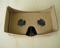Wholesale Hot Google Cardboard Virtual Reality D Glasses Storm Mirror DIY Kit New