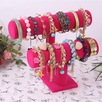 Wholesale Quality Black Tier Velvet Watch Bracelet Jewelry Display Holder Stand Jewerly Case Trail Order