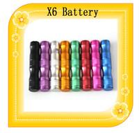 al por mayor kit de voltaje variable x9-X6 Batería electrónica 3.6V cigarrillo 1300mAh ~ 3.8V ~ 4.2V Voltaje Variable batería X6 X9 para V2 Protank 2 e Kit de cigarrillo X6 de Inicio