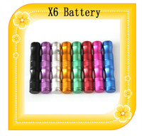 achat en gros de x9 kit de tension variable-X6 Batterie 1300mAh 3.6V cigarette électronique ~ 3.8V ~ 4.2V tension variable Batterie X9 X6 pour V2 Protank 2 e Kit Cigarette X6 Starter