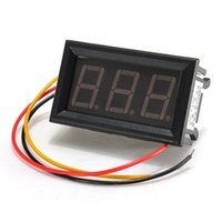 Wholesale Hot Sale DC V To V Car Motor Red Green Blue LED Vehicles Dual Digital Panel Volt Meter Voltmeter