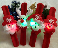 Wholesale In Stock Christmas party toys Wrist Led Light Strap Christmas Supplies Decoration Small Gift for kids Santa Claus Snowman Deer