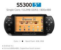 Wholesale Factory price JXD S5300 inch Android ARM Cortex A8 GMHz CPU GB the second generation of JXD game center quot Game X quot