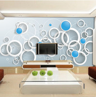 Cheap 2016 New Hot art can customized large mural 3d wallpaper bedroom living room TV back modern fashion innovation abstract circle white gray