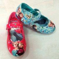 girl shoes - Frozen Shoe Waterproof Casual Shoes elsa and anna Shoes Girls Flats Kids Children Princess Shoes Baby Shoes25 N001