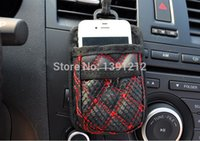 Wholesale Multifunctional car storage bag Car fan outlet case with hanger PU mini Sundries bag free express