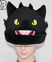 Wholesale 2014 NEW How to Train Your Dragon Plush doll hat Warm black dragon NightFury anodontia cotton Plush doll hat free shpping