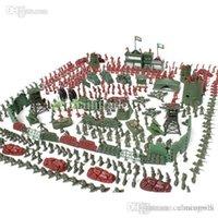 achat en gros de figures militaires en plastique de gros-Gros-500pcs / set Battlefield Simulation figurines en plastique Toy Soldiers Soldier Model Jouets pour les fans militaires enfants Livraison gratuite