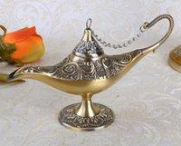 aladdin table lamp - Deal New Big Size Bronze Color Vintage Home Decor Metal Aladdin Lamp Table Display Decoration Family Gift Art Craft