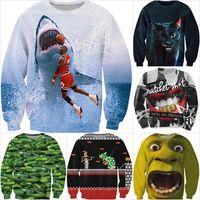 Cheap Alisister new fashion men women harajuku sweatshirt animal 2pac graphic jordan hoodies cartoon 3d sweat