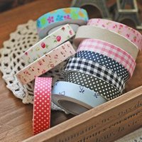 Wholesale Free ship pc Cotton printed cloth tape Korean decorative stickers DIY tape