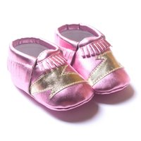 Wholesale 2015 New Tassels Baby Moccasins Soft Moccs Baby Shoes Kids Genuine Leather Newborn Baby first walkers shoes