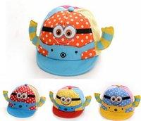 Wholesale Newborn Baby Cotton Net Cap Head Cap Hat Children Minion Cartoon Hat Baby Peaked Cap Cute Cow