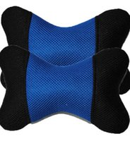 Wholesale The new car headrest neck pillow The four seasons head pillow pillows on the waist Auto supplies A pair of Leather punch head
