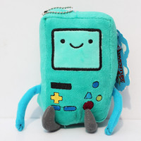 8-11 Years adventure blue - 18cm Cartoon Adventure Time Bmo plush toy Jake Finn friend BMO game machine super cute gift Stuffed dolls