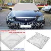Wholesale 96 x cm Auto Expression Winter Windshield Cover Warrior Snow Ice Protector Magnetic protector kit ice protect