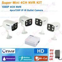 Wholesale Mini CH NVR P IP Camera Securiy CCTV System Waterproof MP HD IP Camera Network IP Camera P NVR DIY Kit P2P ONVIF2