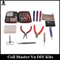 Coil Master V2 DIY Kit Pinzas de cerámica Bobina jig DIY Kit de herramientas para RDA RBA RTA RDTA Atomizador Rebuild Vape Mod kits