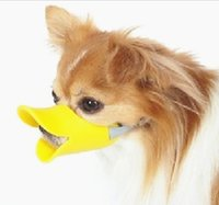 Wholesale Novelty Cute Duckbilled Dog Muzzle Bark Bite Stop Silicone Mouth muffle Dogs Mouth Cover Anti bite Mask For Pet Dog Y30126