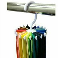 Wholesale Tie Hanging Scarf Organiser White Necktie Rack Muffler Hanger Storage Hook New