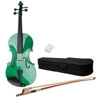 Wholesale 58220 quot Acoustic Viola Case Bow Rosin Green ST