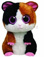 beanie boos nibbles - New TY Beanie Boos Nibbles the Guinea Pig Hamster Plush Animals cm Ty Big Eyes Stuffed Animals Soft Toys for