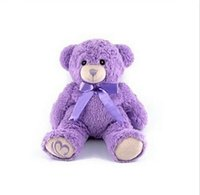 gift for children day - 30cm Lavender Purple Teddy Bear Stuffed Plush Kids Toy Romantic Valentine Day gift Christmas Present Birthday Gift For Children Girl Friend