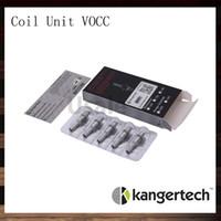Kanger amélioré double bobines VOCC Organic Cotton mèche 0,8 1,0 1,2 1,5 1,8 ohms Pour Evod Mega Aerotank série Genitank série Evod verre T3D