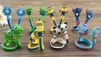 Wholesale 7000PCS HHA219 Factory Price Cartoon animals cable winder Mobile Earphone bobbin winder cable management in Stock