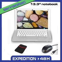 Wholesale Android Netbook Laptop Notebook Pad Tab inch with G RAM GB ROM WIFI HDMI Dual Core Free Gift with Mouse Bag silver