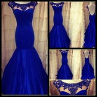 best cross training - Best Selling Royal Blue Beaded Backless Prom Dress Sexy Backless Satin Ruched Mermaid Evening Prom Gowns Custom Made