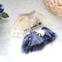Wholesale Elegant Baby Girl Tutu Skirt Princess Skirts Cake Skirt Mini Gauze Skirt for Kid Pleated Skirt Girls Cute Lace Skirts Tutus Tiered Skirts