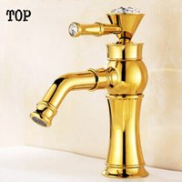 Wholesale Crystal bathroom faucets ronating water faucet wash basin sink faucet Luxury antique bronze tap