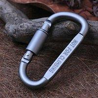 activity keychains - 1pcs D Shaped Locking Carabiner Snap Hook Keychain Outdoor Activities Aluminum Alloy