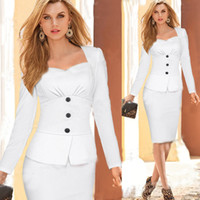 Wholesale New Fall Winter Fashion Long Sleeves Womens OL Office Work Dresses Stretch Bodycon Work Cocktail Lady Slim Pencil Party Mini Dress