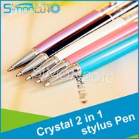 Wholesale Luxury Diamond Crystal in Touch Screen Capacitive Stylus Ball Pen For Mobile Phone PC Tablet iPad IPHONE Samsung Galaxy note5
