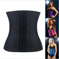 Wholesale Sexy Lingerie Latex Waist Cincher Steel Bones Basque Underbust corset Party Wear XS XL W8112