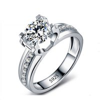 Wholesale S925 sterling silver Hollow Wedding Rings wedding engagement cz diamond jewelry rings for women accessories bijouterie top quality LSR066