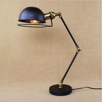 arm lampe - RH loft Industrial Table Lamp For Bedroom With Long Arm Desk Lamp For Living Room Abajur Lamparas De Mesa Lampe