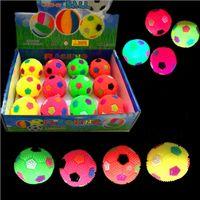 Wholesale Light Up Spikey LED Ball Football Dog Cat Flashing Sensory Fun Blinking Spiky Toy New Year