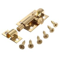 barrel bolt lock - Lowest Price inch Brass Door Slide Catch Lock Bolt Latch Barrel Home Safety Hardware Screw