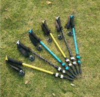 Wholesale Aluminum Straight Shank mountaineer mountaineering cane cane outdoor hiking supplies travel supplies