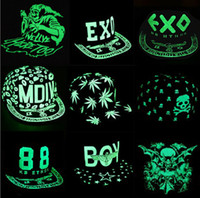 Wholesale 22 Design Unisex casual Fluorescent caps Korean hip hop caps TFBOYS EXO Snapback Snapbacks Snap back Children top hat Jazz cap