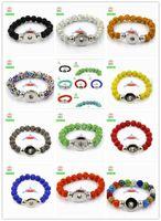 acrylic crystal ball - MIX COLOR Shamballa Crystal Balls Snap bangle with snap button Bracelet bead Elastic Wristband