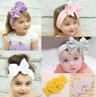 Hair Ribbons FABRIC Solid Big bowknot Head Bands Infants Baby Headbands Children Hair Accessories Hair Bands 2016 Headbands For Girls Baby Hair Accessories B233