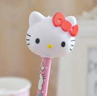 Wholesale Lovely Hello Kitty School Plasitc Pencil Sharpener Color Pink Hot Pink