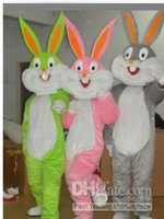 Wholesale 2pcs free for my friend bugs bunny Mascot Costume Halloween christmas prop factory direct